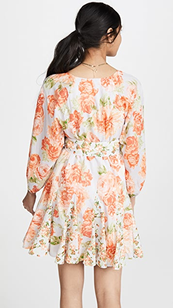 alice + olivia Pali Keyhole Godet Dress