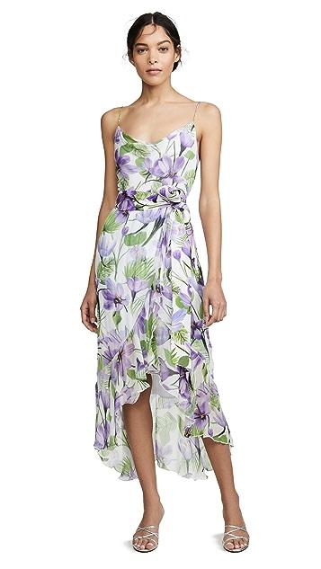 alice + olivia Tevi Cowl Neck Ruffle Dress