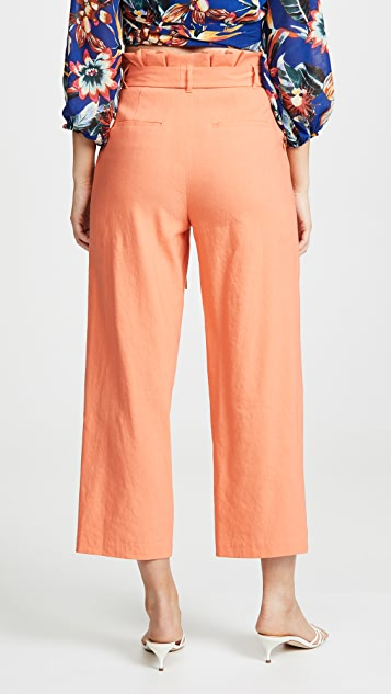 alice + olivia Farrel Paper Bag Pleated Pants