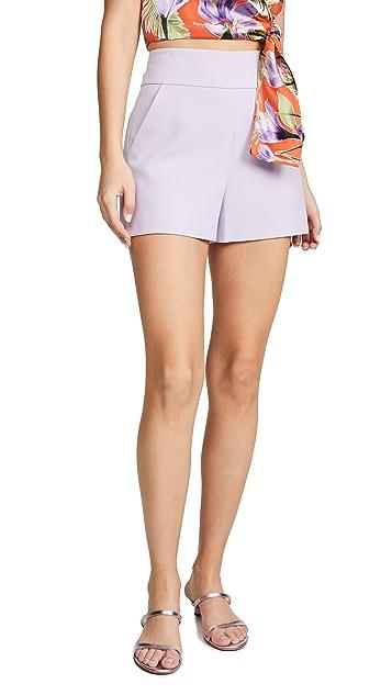 alice + olivia Donald High Rise Shorts