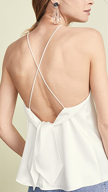 alice + olivia Майка Emmeline с завязками на спине