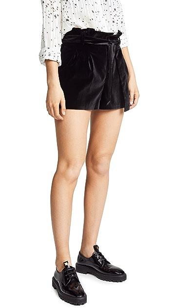 alice + olivia Laurine Paper Bag Shorts