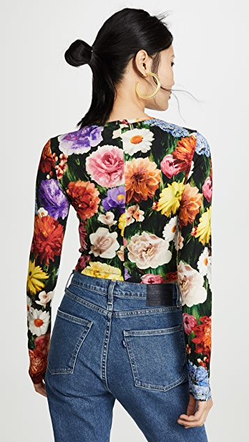 alice + olivia Delania Crop Top
