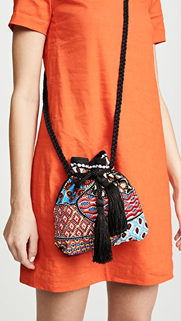 alice + olivia Rope Embellished Pouch