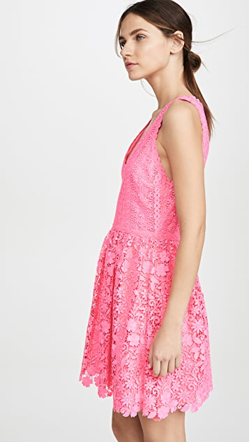 alice + olivia 鸢尾褶皱连衣裙
