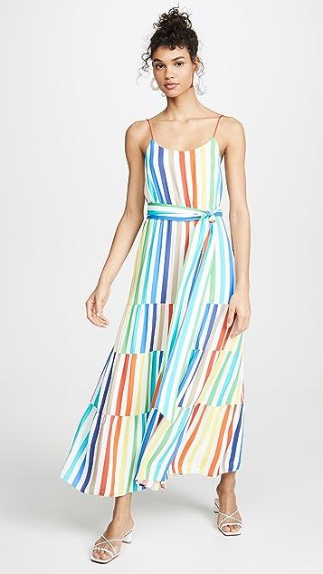 alice + olivia Janan Spaghetti Strap Midi Peasant Dress