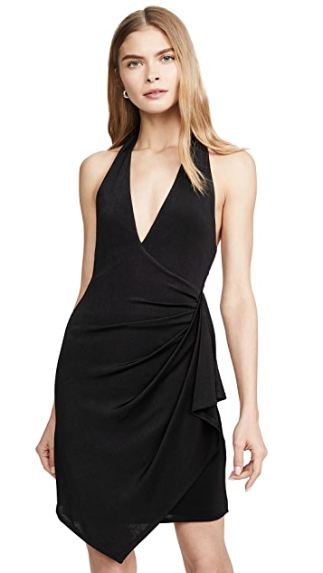 alice + olivia Marx Halter Neck Drape Dress