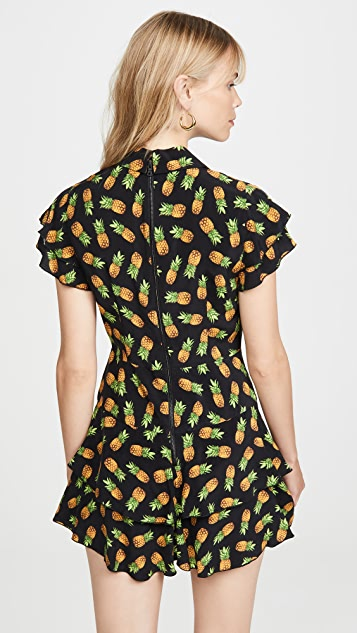 alice + olivia Комбинезон Shay с юбкой-шортами с оборками