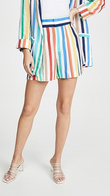 alice + olivia Scarlet Flutter Shorts