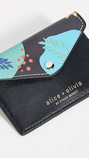 alice + olivia Lexi Printed Envelope Card Case