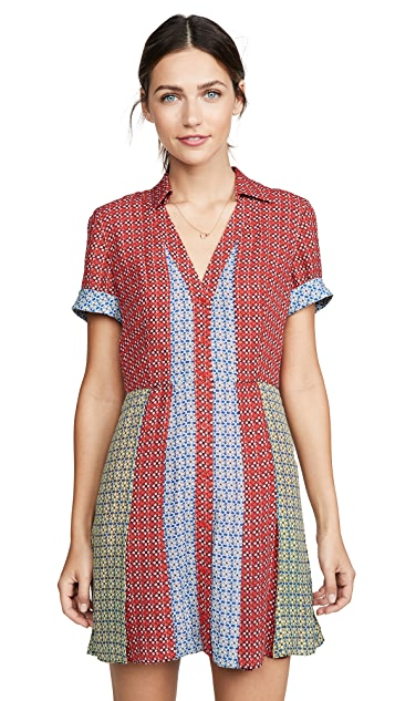 alice + olivia Abelia Button Down Shirtdress