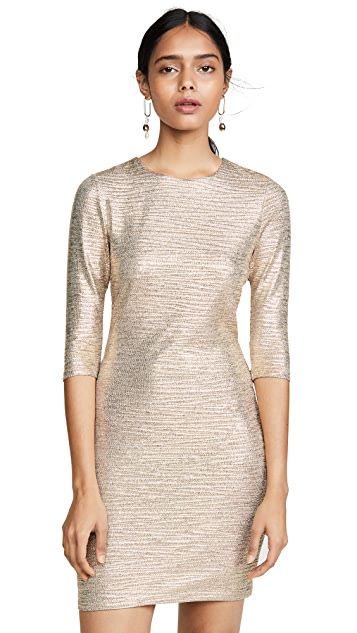 alice + olivia Delora Fitted Crew Neck Dress
