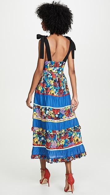 alice + olivia Многоуровневое миди-платье Gayla
