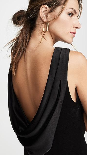 alice + olivia Свободное платье Lita с воротником-хомутом сзади