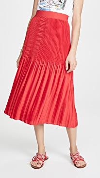 Ken Pleated Midi Skirt