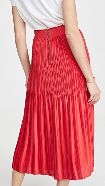 alice + olivia Ken Pleated Midi Skirt