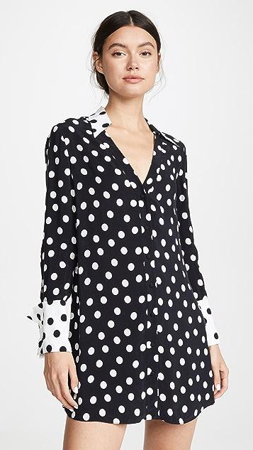 alice + olivia Halima 法式袖扣衬衣连衣裙