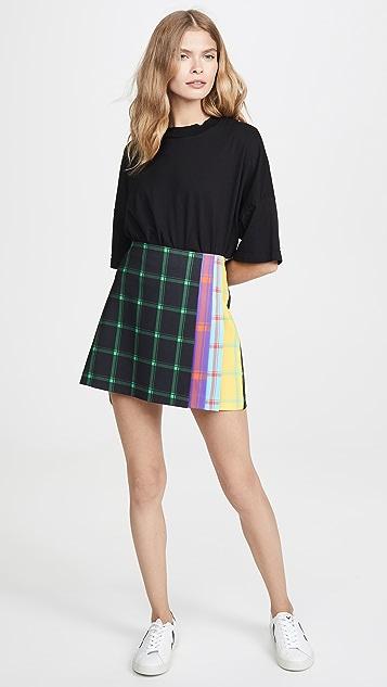 alice + olivia Semira Pleated Miniskirt