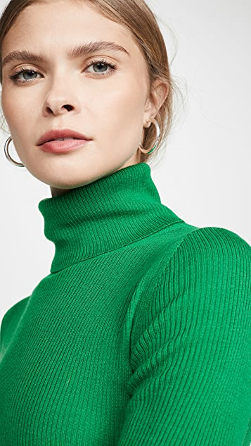 alice + olivia Roberta Long Sleeve Rib Turtleneck