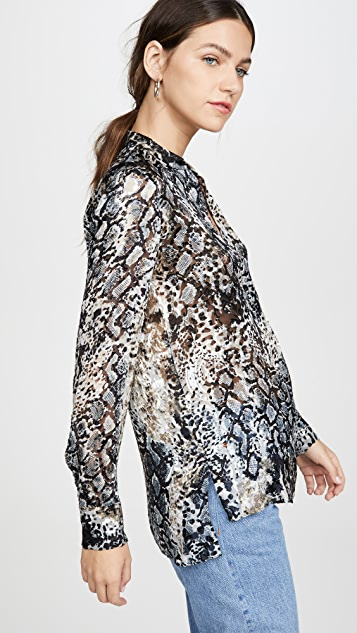 alice + olivia Amos Mock Neck Side Slit Tunic