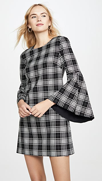 alice + olivia Thym Trumpet Sleeve Dress