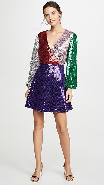 alice + olivia Blaze Sequin Dress