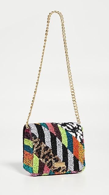 alice + olivia Квадратная сумка Faye с клапаном и декоративной отделкой