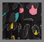 抽象豹纹/宝石红组合
