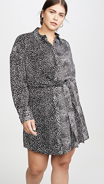 alice + olivia Jodi 绑带衬衣式连衣裙