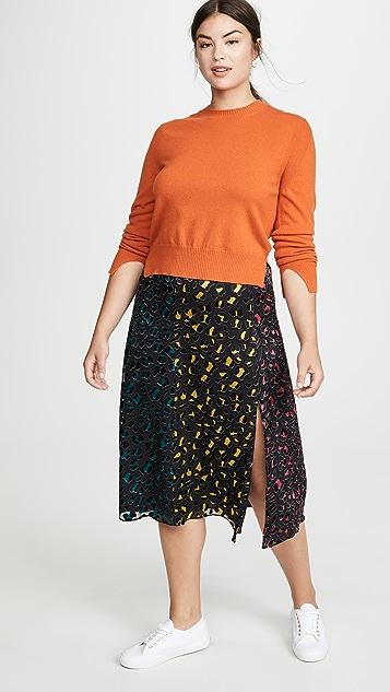 alice + olivia Jenessa 拼接高开衩半身裙