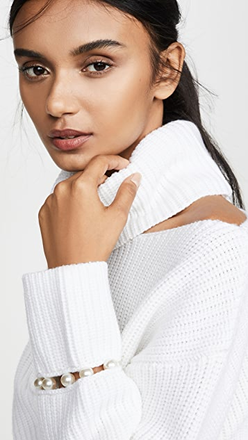 alice + olivia Lara Cold Shoulder Sweater