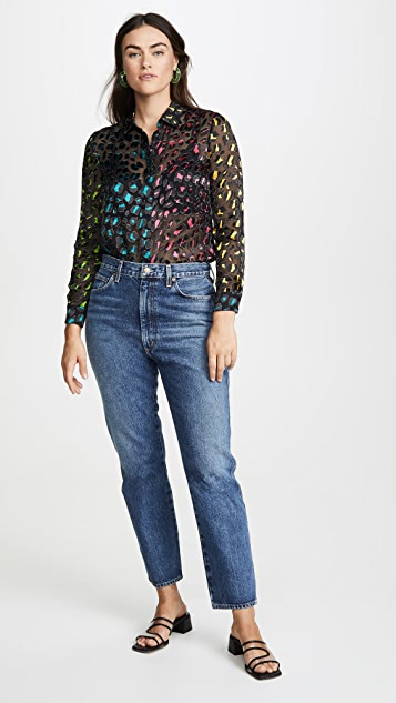 alice + olivia Willa Animal Print Top