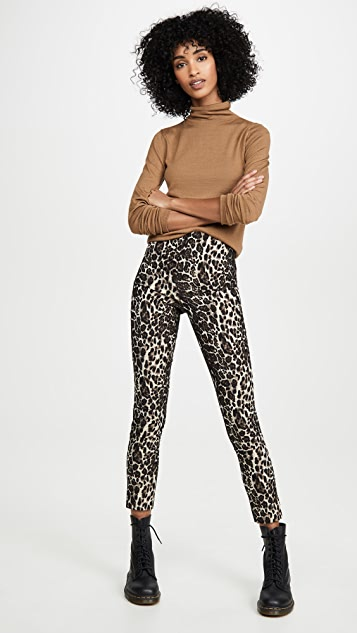 alice + olivia Conley High Waist Slim Leg Pants