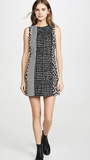 alice + olivia Clyde Patchwork Shift Dress