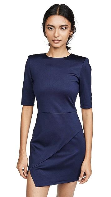 alice + olivia Асимметричное мини-платье Nova Strong Shoulder