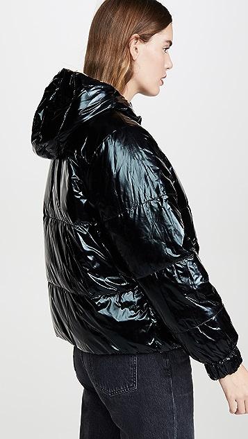 alice + olivia Durham PR 双面穿夹棉连帽大衣