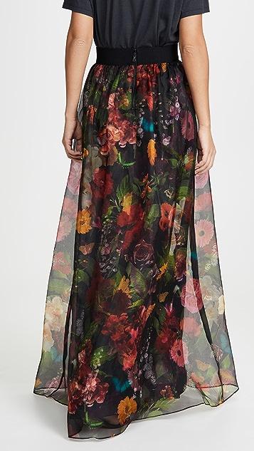 alice + olivia Присборенная макси-юбка Yvonne с накладной юбкой