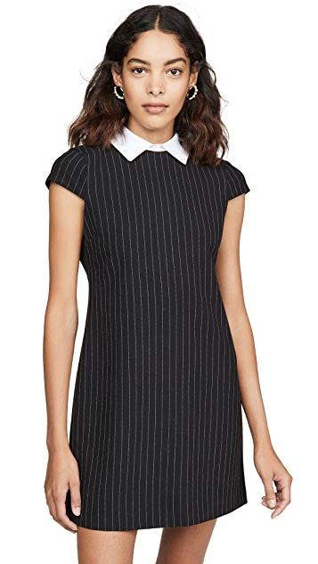 alice + olivia Coley Detachable Collar A-Line Dress