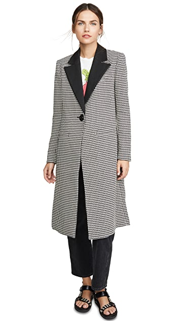 alice + olivia Sienna Long Blazer Coat