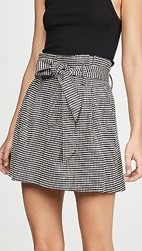 Zoya Belted Paper Bag Miniskirt