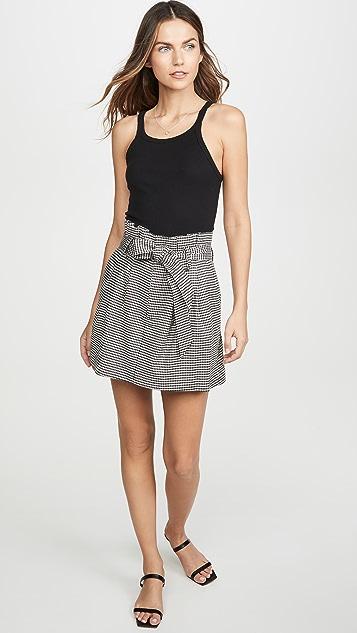 alice + olivia Zoya Belted Paper Bag Miniskirt
