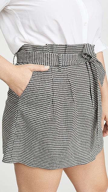 alice + olivia Zoya 系腰带纸包迷你裙