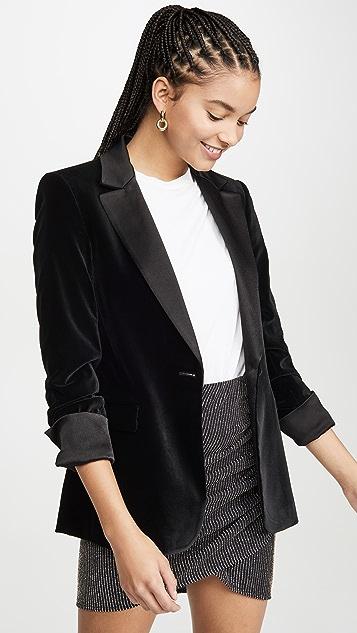 alice + olivia Macey 裥褶袖合身西装外套