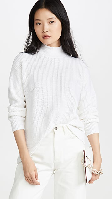 alice + olivia Sarah Open Back Boxy Turtleneck