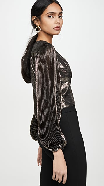 alice + olivia Ranee 垫肩女式衬衫