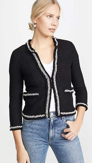 alice + olivia Короткий жакет Georgia в стиле свитера с отделкой
