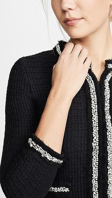 alice + olivia Georgia 短款装饰毛衣夹克