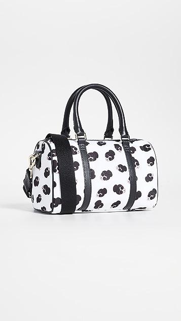 alice + olivia Nina Small Printed Nylon Gym Bag