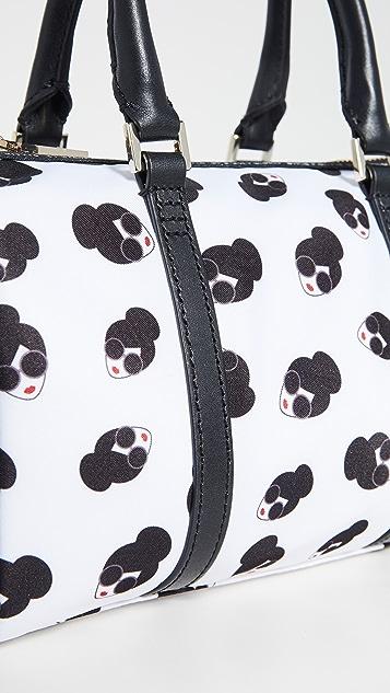 alice + olivia Маленькая спортивная сумка Nina из нейлона с принтом