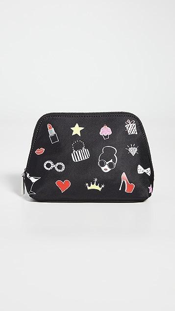 alice + olivia Nikki 印花化妆盒